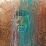 """""""Fukushima"""" - Coolage/Zeichnung, 30 x 30"""
